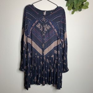 Free People Tops - FREE PEOPLE FLORAL BUTTON DOWN LONG SLEEVE TUNIC